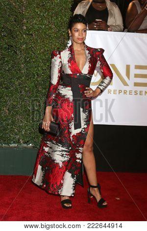 LOS ANGELES - JAN 15:  Susan Kelechi Watson at the 49th NAACP Image Awards - Arrivals at Pasadena Civic Center on January 15, 2018 in Pasadena, CA