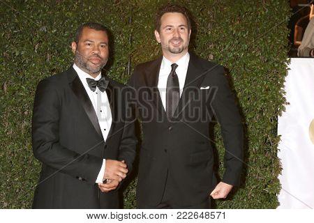 LOS ANGELES - JAN 15:  Jordan Peele, Mark Boal at the 49th NAACP Image Awards - Arrivals at Pasadena Civic Center on January 15, 2018 in Pasadena, CA