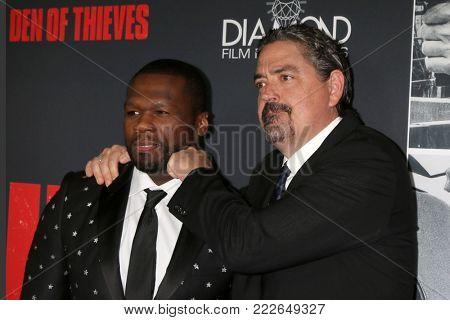 LOS ANGELES - JAN 17:  Curtis Jackson, 50 Cent, Christian Gudegast at the