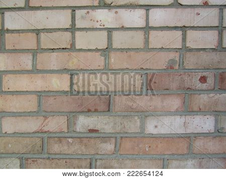 texture of the brickwork on the wall was built a long time