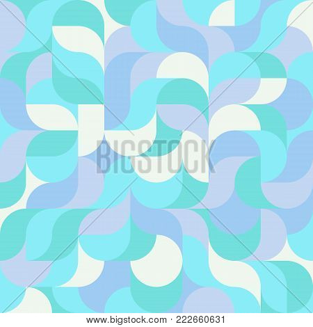 Abstract vector colorful geometric harmonic wave background in modern style for a flat pattern design booklet, folder, or for decoration and background poster