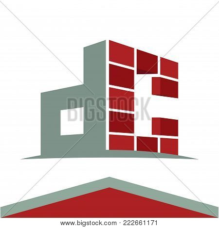 Icon logo for construction business with initials combination of letters D and C