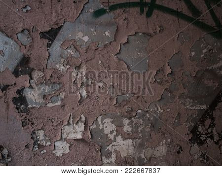 Old vintage crack wall, shabby, olden, abounded
