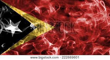 East Timor smoke flag isolated on a black background