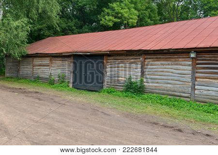 Storage hay in the estate of Count Leo Tolstoy in Yasnaya Polyana in September 2017.