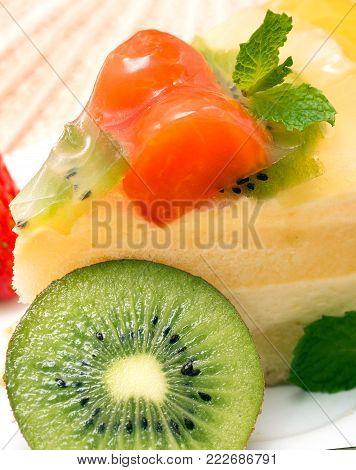 Strawberry Desert Represents Fresh Homemade And Tasty