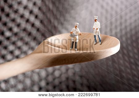 Tiny Little Figure Of A Chef In A Cracker Biscuit