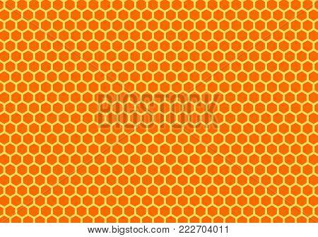 Golden honeycomb background