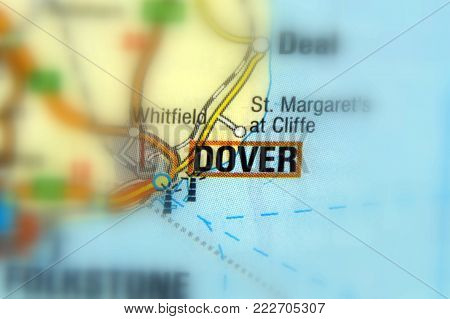 Dover, a town and ferry port in the home county of Kent, in South East England.