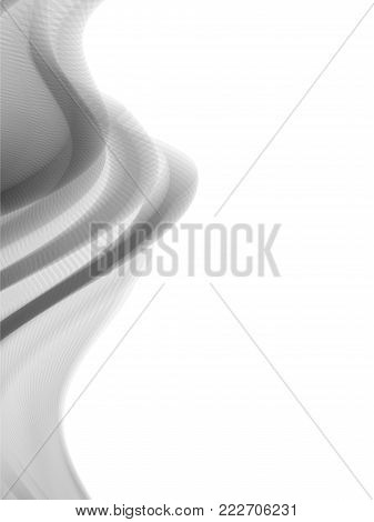 Vector wave and curve line. EPS10 with transparency. Abstract composition with curve lines. Blurred lines for relax theme background. Background with copy space. Place for text. Border lines