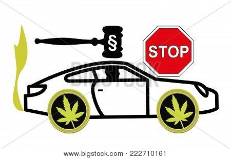 It is illegal to drive stoned. Driving high is considered a criminal offense and gets punished by law