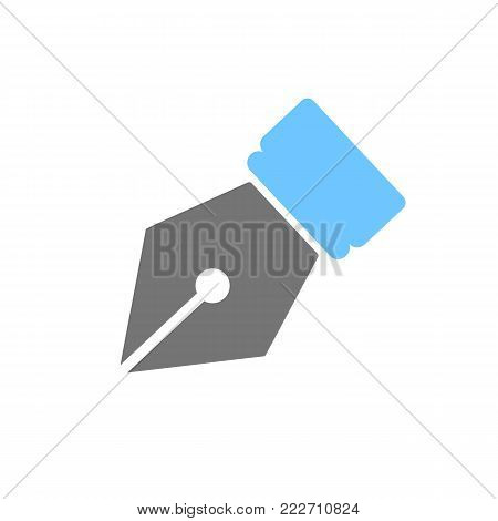 Pen tip icon symbol. Pen ink isolated on white background. Vector stock.