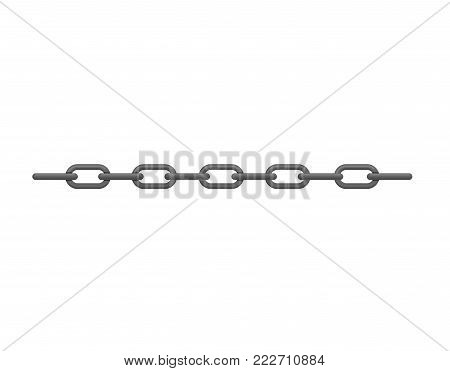 Chains isolated. Chains Rings on white background. Vector illustration