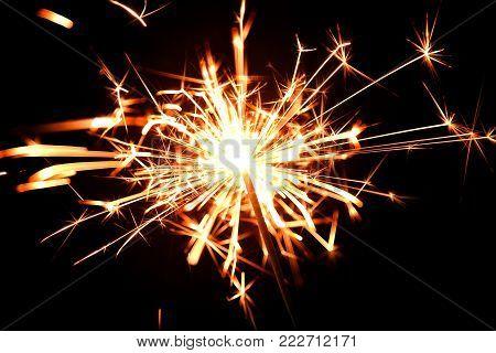 Bengal fire fireworks festival. Celebration light party.