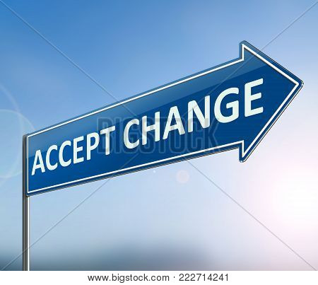 Accepting Change Concept.