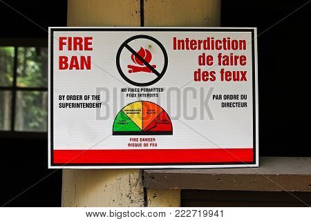 A Fire Ban Order by Superintendent sign.