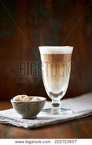 Latte Macchiato in a Glass