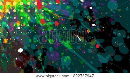 Wide format abstract grunge background. Vector EPS10 without gradient with transparency.