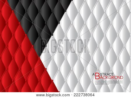White and red abstract background vector illustration, cover template layout, business flyer, Leather texture luxury can be used in annual report cover design, book, banner, web page, brochure, poster, card