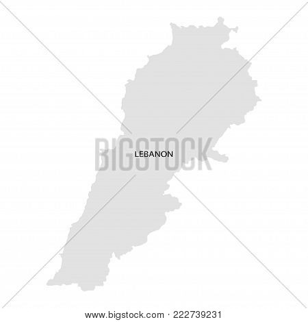Territory of Lebanon. White background. Vector illustration