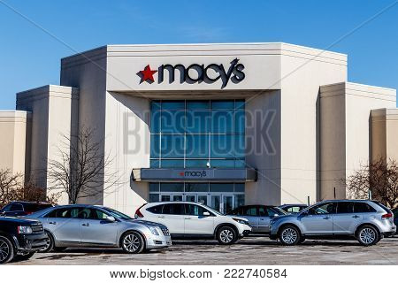 Muncie - Circa January 2018: Macys Department Store. Macy's, Inc. is one of the Nation's Premier Omnichannel Retailers