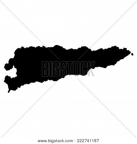 Territory of East Timor. White background. Vector illustration