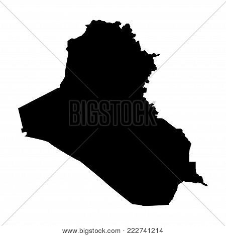 Territory of Iraq. White background. Vector illustration
