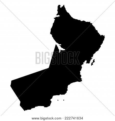 Territory of Oman. White background. Vector illustration