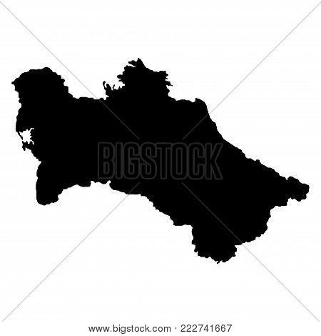 Territory of Turkmenistan. White background. Vector illustration