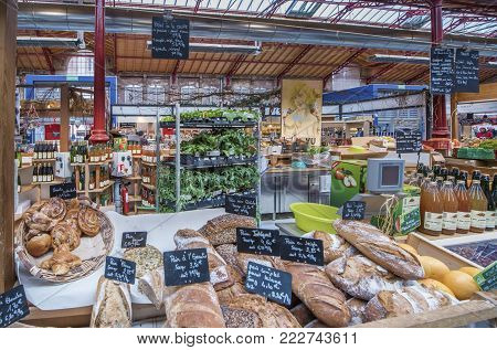 Colmar, France - May 2017: Bakery Store At The Local Market