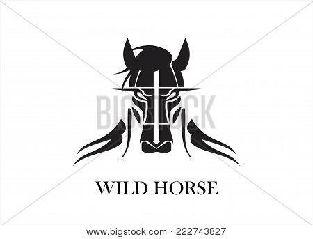 Great Horse. horse. Horse logo on white background.