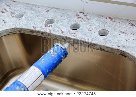 installing counter top kitchen New with granite countertops renovation and granite installation