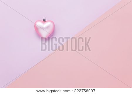 Table Top View Aerial Image Of Sign Valentine S Day Background Concept.flat Lay Heart Shape On Moder