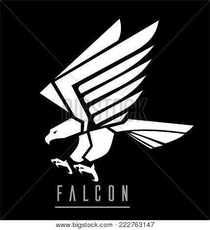 eagle, white eagle, white hawk, attacking falcon
