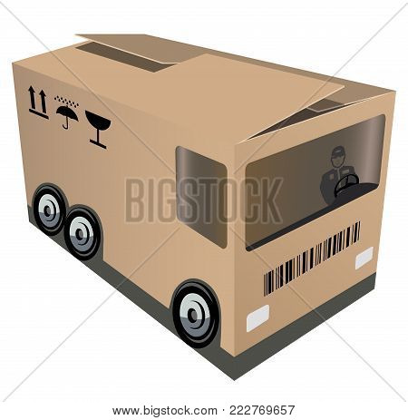 Logistic or example of packing design for a company engaging in logistic
