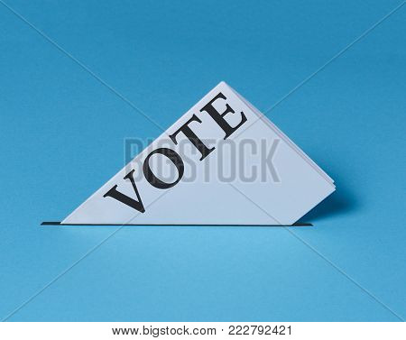 Electoral Bulletin Falls Into Urn. Elections Vote Freedom Democracy Independence Referendum Concept