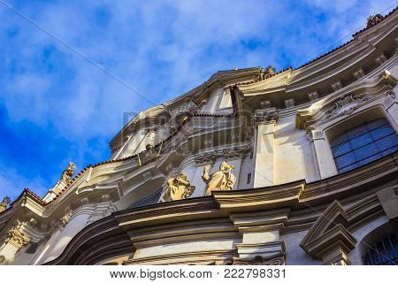 St. Nicolas Church in Mala Strana district of Prague, Czech Republic