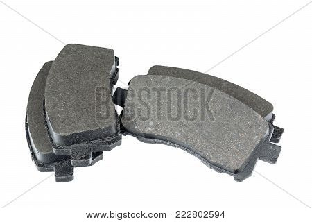 Brake pads isolated on a white background