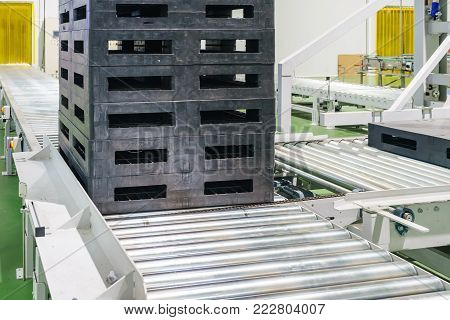 Pallet at automated storage and retrieval system in warehouse