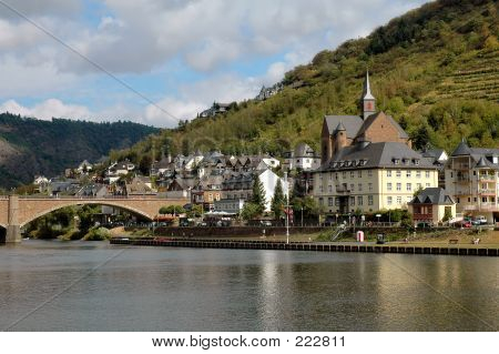 The City Of Cochem, Germany On The Mosel River