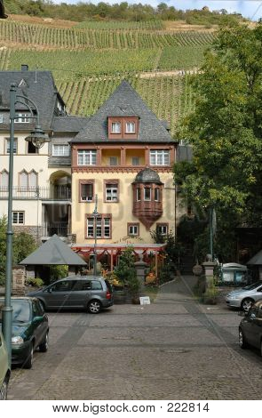 Picturesque Buildings In Mosel Wine Region Of Germany