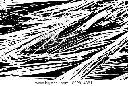 Grunge Black And White Straw Texture   Template, Dry Straw, Straw Background Texture, Abstract Natural Thatched Design