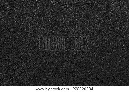 Macrophoto Of Velvet Fabric Of Black Color