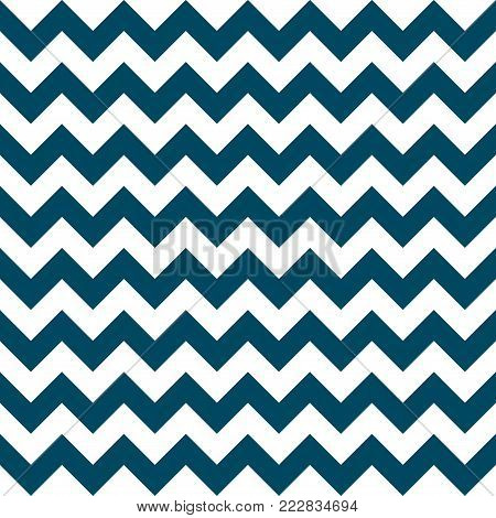 Chevron zigzag pattern seamless vector arrows geometric design colorful navy nautical blue white