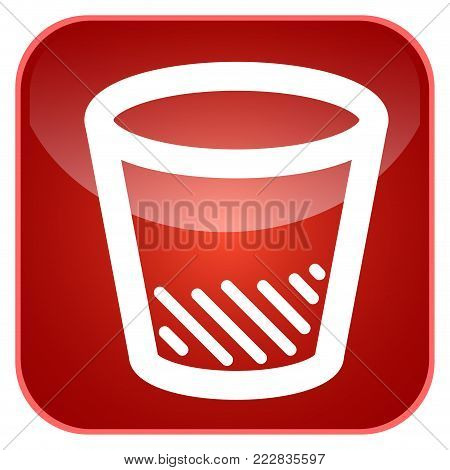 Trash can app icon for smartphones, Vector illustration
