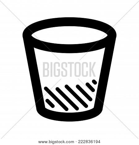 Trash can icon on a white background, Vector illustration