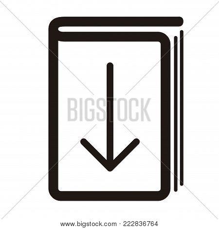 E-book download graphic design, icon, Vector illustration