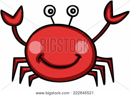 Scalable vectorial representing a cute hermit crab, illustration isolated on white background.