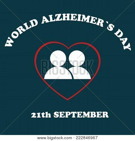 World Alzheimer's day.Illustration of the Alzheimer's Disease