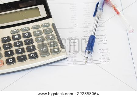 report financial statement yearly balance sheet at office desk